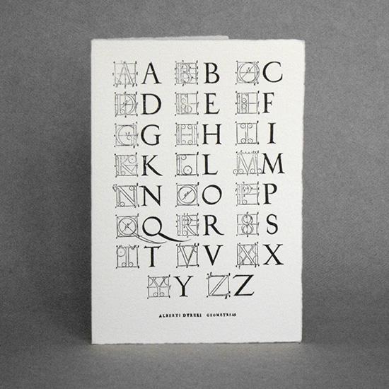 Dürer's Alphabet