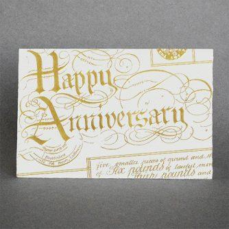 Happy Anniversary (gold)